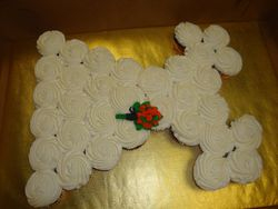 $3/cupcake + $7 flower bouquet