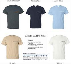 T-Shirts, HeavyWeight 50/50 DryBlend Fabric  |   Silk-Screen Logo