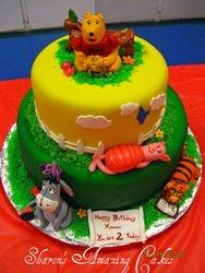 CAKE 21A2- Winnie The Pooh & Friends