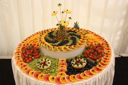 Fruit table display at blott country club Nottingham