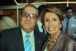 Democratic Leader of the U.S. House of Representatives for the 112th Congress, Nancy Pelosi with AAFH Board of Directors Member, Mustafa Xhepa