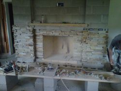 Virginia ledgestone fireplace Boulder Colorado