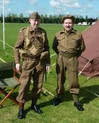 Home Guard pouches worn by Trevor Palmer & 40 pattern BD's worn by Stuart Harris