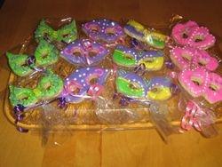 Mardi Gra Theme Sugar Cookies