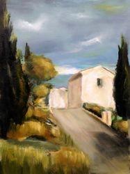 Entrée du village de Monieux