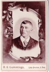 O. S. Cummings, photographer, Lake Preston, SD