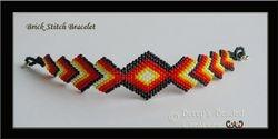 Brick Stitch Diamond Bracelete