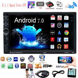 7'' 2 DIN Android 6.0 MP5 Player 3G WIFI Bluetooth GPS Car Radio Nav Stereo AO