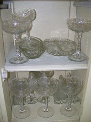 ETCHED DEPRESSION GLASS, CUT CRYSTAL