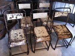#17/117 Set of 12 Metal Chairs 2 Available