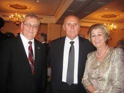 Ambassador Avni Spahiu and Mrs. Spahiu with Jadigjar Luzaj