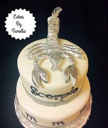 fondant scorpion and cake