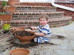My son as a baby, feeding his gut flora ; )