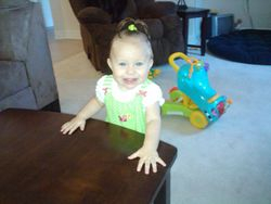 My Granddaughter Lexi at 1 yr. old
