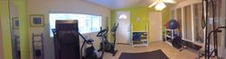 Panoramic of my small, private, studio