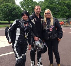Julia, Ali & Callum from the BLD Motorcycle Group