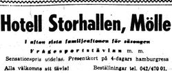 Hotell Storhallen 1959