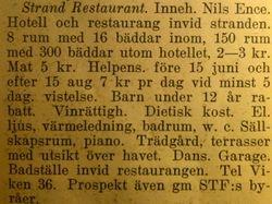 Strandrestaurangen 1941