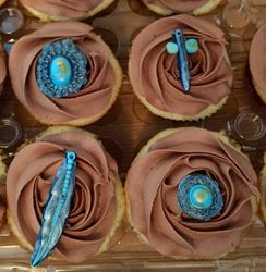 Native American themed cupcakes