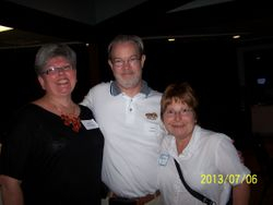 Joan, Larry Stevens and Michelle Bales