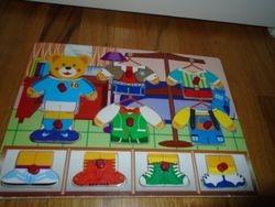 Bear Dress-Up Mix 'n Match Peg Puzzle - $5