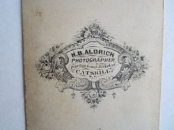 H. B. Aldrich, photographer of Catskill, New York - back