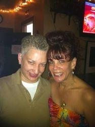 Carmen & Annette posing at Carmen & Patty's Birthday Celebration (502 Bar Lounge's Social Saturday Karaoke Night)!