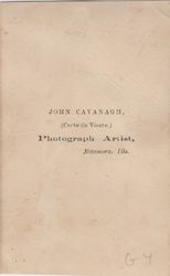 John Cavanagh, photographer, Metamora, IL - back