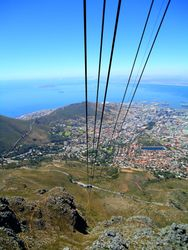 Going up Table Mountain