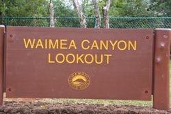 Waimea Canyon sign