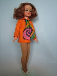 Tangerine Dress 1971 shown with Tights 1972