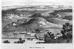 View of Wanganui from Shakespeare Cliff 1848