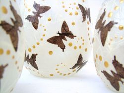 Cream and Brown Butterflies