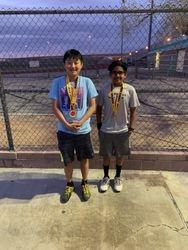 Matt and Alpha 3rd place boys 12s doubles