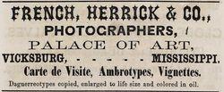 French, Herrick & Co., photographers, Vicksburg, MS