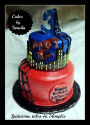Spiderman takes on the City Cake