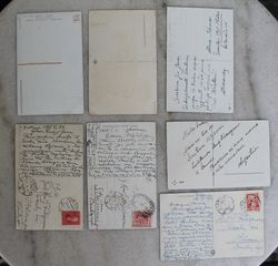 Prieskarines sveikinimu atvirutes. Skirtos Kun. Jonui Fabijanskui 1935 - 1938 m. Stanciunai. Kaina po 2.5 Eur.