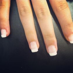 Shellac with nail extensions