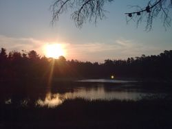 Sunset at the Mortchup Reservoir