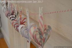Paper Strip Heart Banner