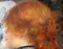 Renoir, Woman Reading an Illustrated Journal, detail, RISD