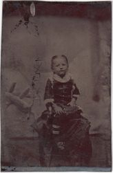 One fourth plate tintype