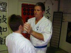 Aaron with Sensei Johnny