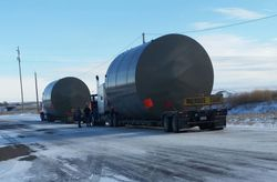 Oil tanks to North Dakota