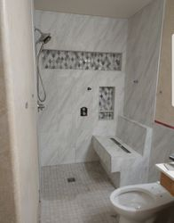 Handicap accessible custom design shower