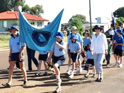 Charleville S.D.E. Kids on The Anzac Day Parade