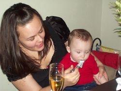 Kristen & Baby Sammy