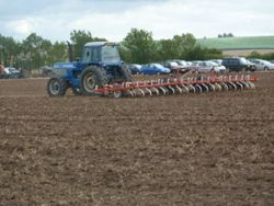 Ford TW35 with large cultivator