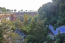 At Shibaozhai Pagoda on Yangtzee River