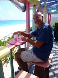 John at Nippers on Guana Cay